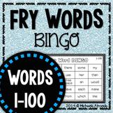 Fry Sight Word BINGO (Words 1-100) Editable
