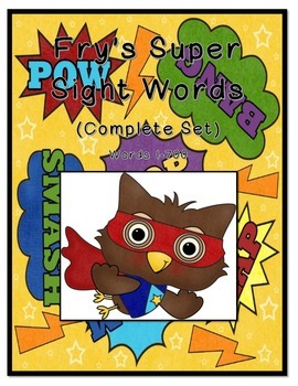 Fry's Sight Words Complete Set-(1st 100-6th 100 word set)