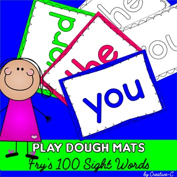 Fry's Sight Words First 100 Words - Play Dough Mats - Coloring Sheets - Literacy