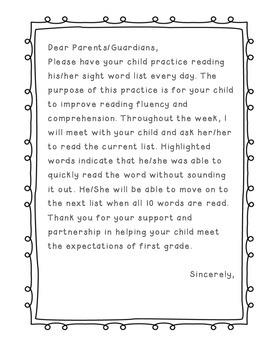 Fry's Sight Words Folder 100 & 200 words (List 1 and List 2)