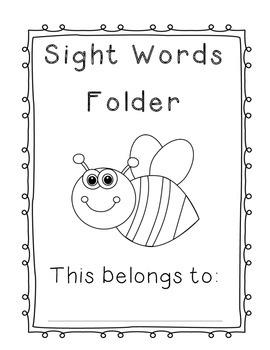 Fry's Sight Words Folder 300 & 400 words (List 3 and List 4)