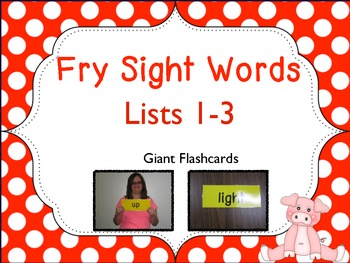 Fry's Sight Words Lists 1-3 Giant Flashcards