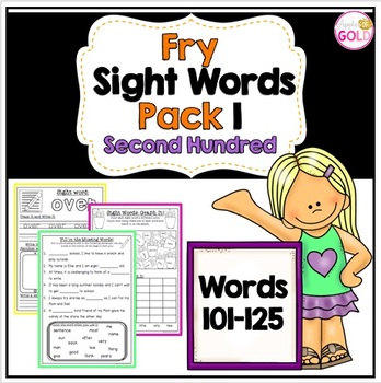 Fry Sight Words Pack 1- Second Hundred List (101-125)