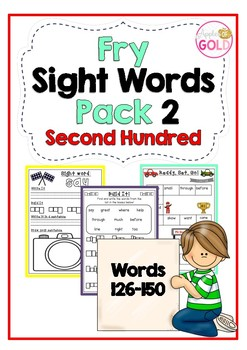 Fry Sight Words Pack 2- Second Hundred List (126-150)