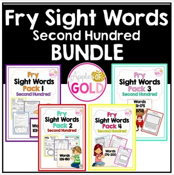 Fry Sight Words Pack - 2nd Hundred Bundle
