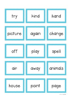 Fry Sight Words Pack 4- Second Hundred List (176-200)