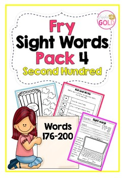Fry's Sight Words Pack 4- Second Hundred List (176-200)