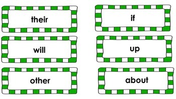 Fry's Sight Words - Purple and Green