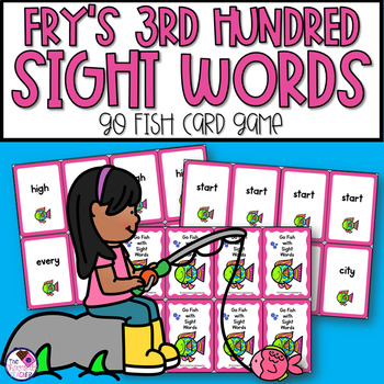 Fry's Sight Words Third Hundred Go Fish Game
