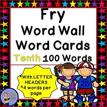 Fry Word Wall Cards - Tenth 100 - 2 SETS