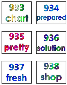 Fry's Tenth 100 Words in Print Order PowerPoint/Flash Cards - Grades 3 - 4