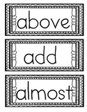 Fry's Third 100 Sight Words in ABC Order