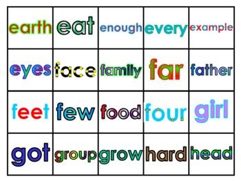 Fry's Third 100 Vocabulary Words Study Mats (20 Words Per Mat)