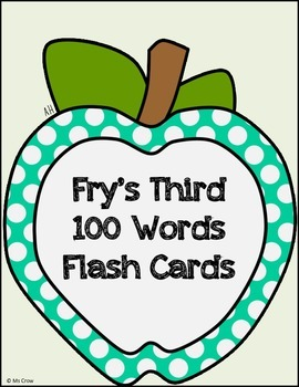 Third 100 Fry Words Flash Cards