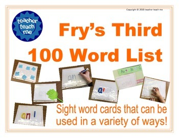 Fry's Third 100 Word List