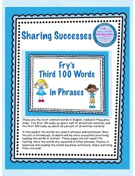 Fry's Third 100 Words in Phrases