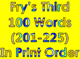 Fry's Third 100 Words in Print Order PowerPoint/Flash Card