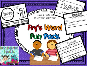 Fry's Word Fun Pack (Fry's First 100 words)
