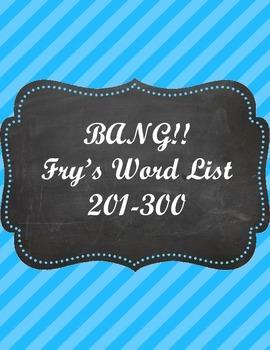Fry's Word List 201-300 Bang! Game