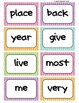 Fry's Word Wall Cards (Words 101-200)  with Colorful Dots