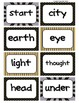 Fry's Word Wall Cards (Words 201-300)  with Black, Yellow, and Gray Borders