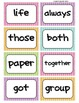 Fry's Word Wall Cards (Words 201-300)  with Colorful Dots