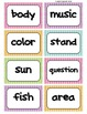 Fry's Word Wall Cards (Words 301-400)  with Colorful Dots