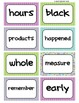 Fry's Word Wall Cards (Words 301-400)  with Purple, Blue, and Green Borders