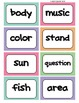 Fry's Word Wall Cards (Words 301-400)  with Smaller Colorful Dots