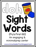 First Grade Sight Words: Play-Doh Mats Activity