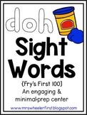 First Grade Sight Words: Play-Doh Mats Activity