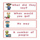 Fry's sight word phrases List 1 Community Helper Theme