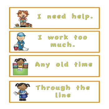 Fry's sight word phrases List 2  Community Helper Theme
