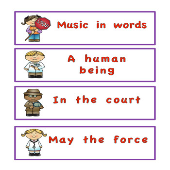 Fry's sight word phrases List 6  Community Helper Theme