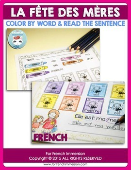 Fête des Mères - FRENCH Mother's Day Color & Read