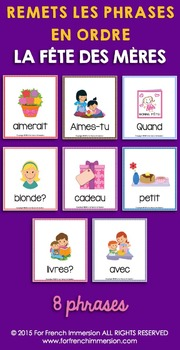 Fête des Mères - FRENCH Mother's Day Sentence Builders