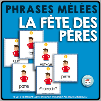 Fête des Pères - FRENCH Father's Day Sentence Builders
