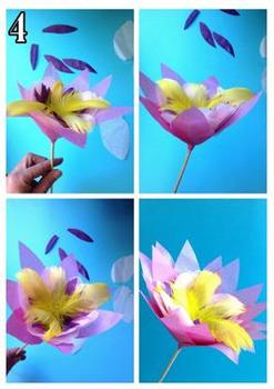 Fêtes des mères: Une fleur, projet, activité d'arts plastiques