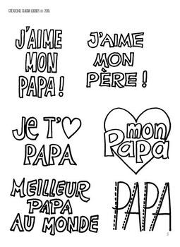 Fêtes des pères : arts plastiques, carte pour les papas