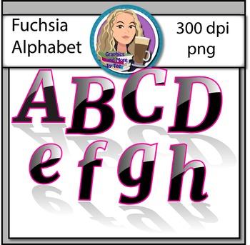 Fuchsia Alphabet Clipart