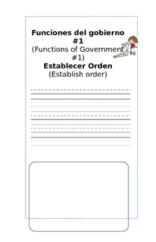 Fucntions of Government : Spanish and English
