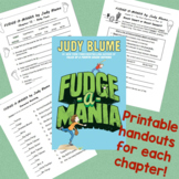 Fudge-A-Mania - Printable Worksheets for each chapter