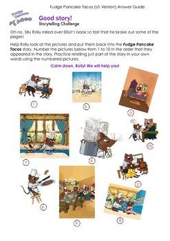 THE SNIPS: Fudge Pancake Tacos Activity - Storytelling Challenge ANSWER KEY