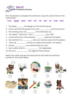 THE SNIPS: Fudge Pancake Tacos Activity - Vocabulary Challenge 2