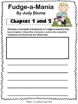 Fudge-a-Mania 2nd Grade ELA CCGPS Unit 1 - WORKSHEETS