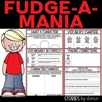Fudge-a-Mania Book Questions and Vocabulary