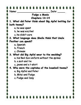 Fudge-a-Mania Ch. 13-14