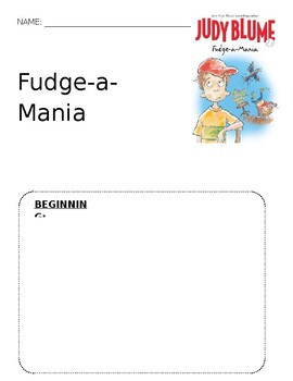Fudge-a-Mania Graphic Organizer