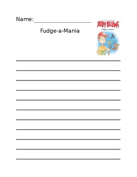Fudge-a-Mania Lined Paper