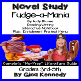 Fudge-a-Mania Novel Study & Enrichment Project Menu